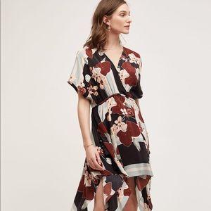 Anthropologie   TRYB Wrapped Silk Dress M